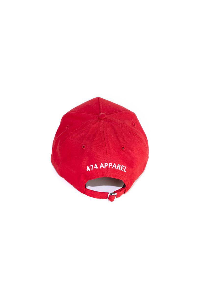 Red 474 Wild Season Baseball Cap back