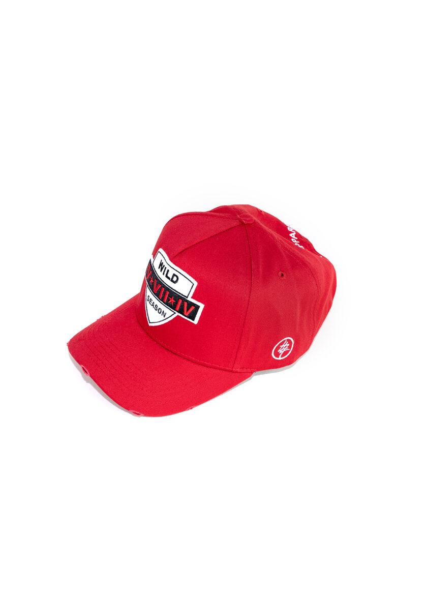 Red 474 Wild Season Baseball Cap front 2