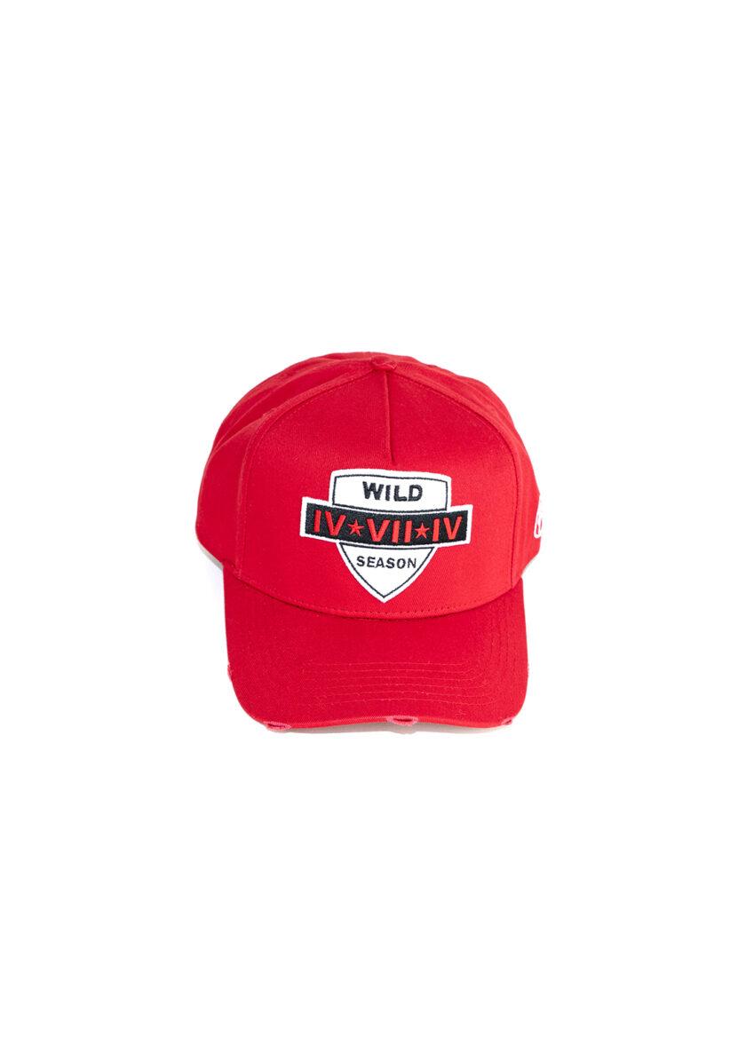 Red 474 Wild Season Baseball Cap front