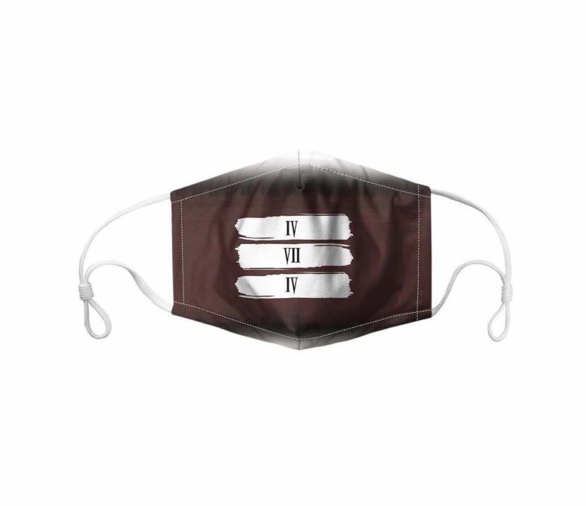 474 brown mask