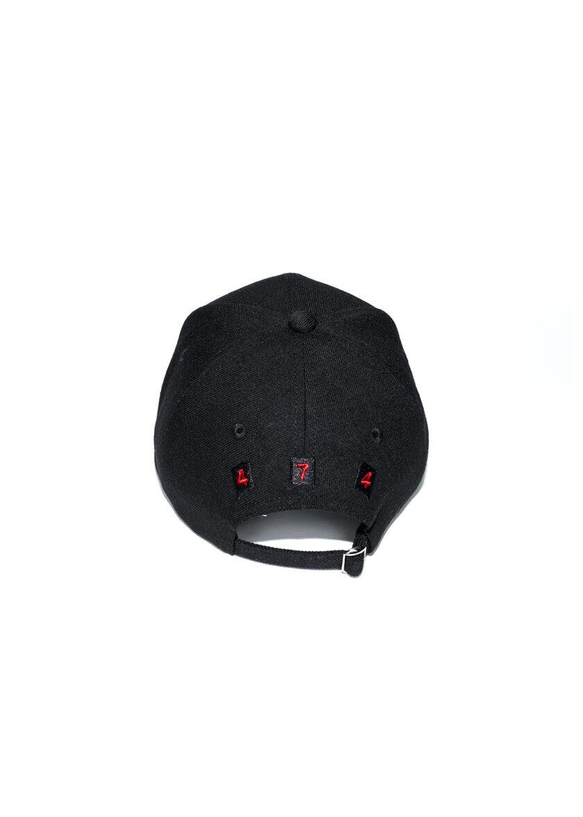 Red Strip 474 Baseball Cap back