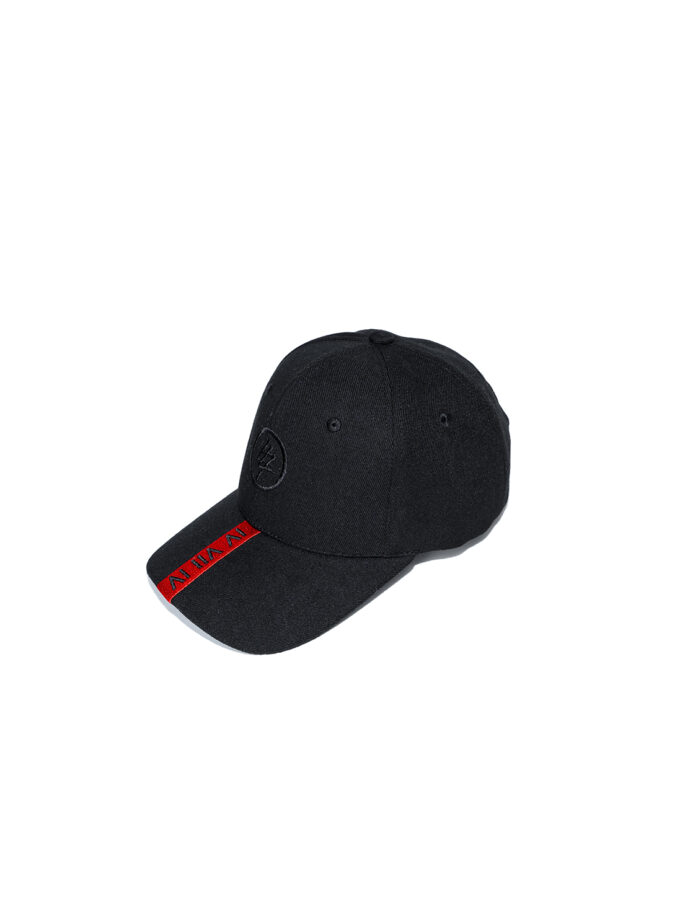 Red Strip 474 Baseball Cap front 2