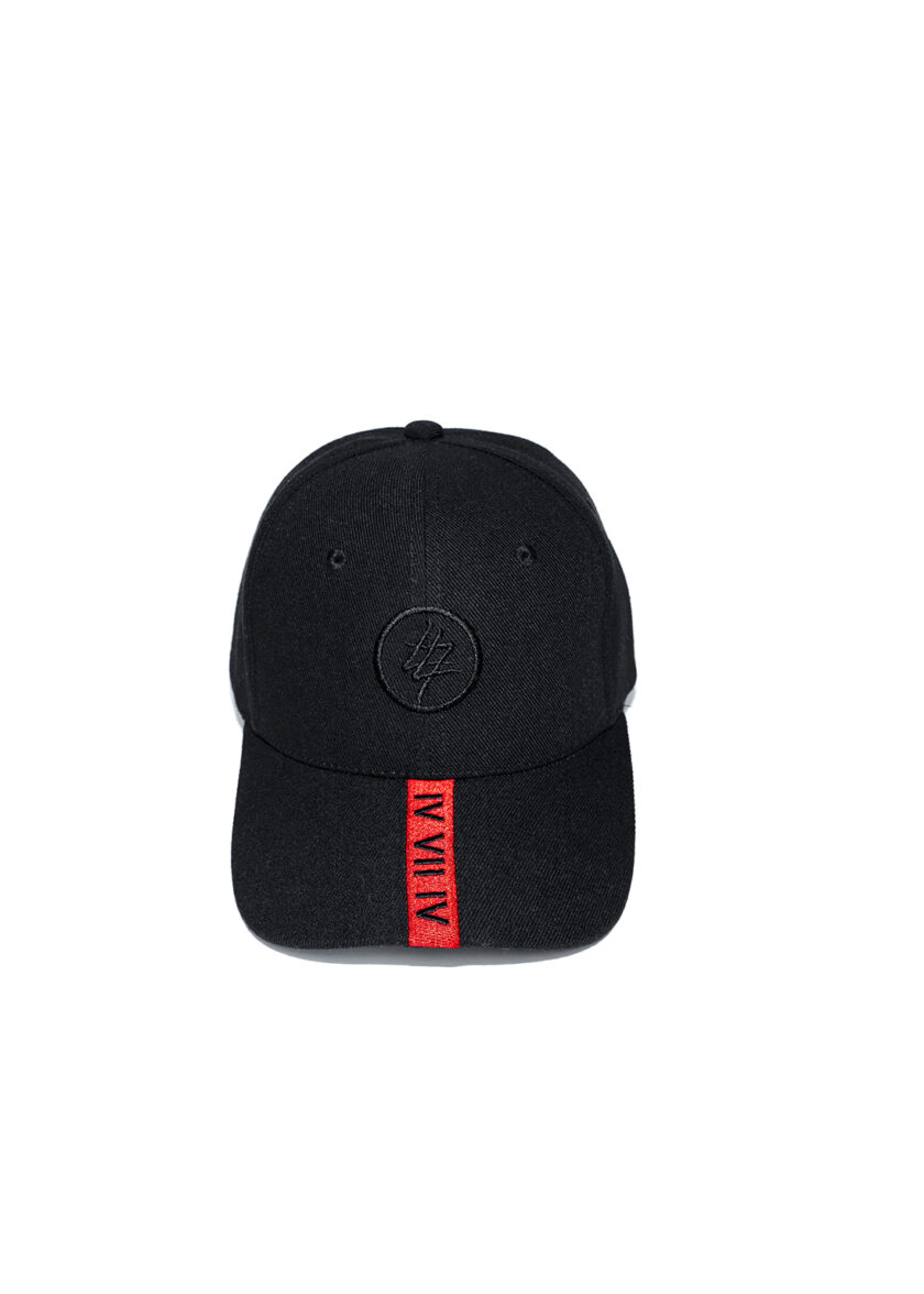 Red Strip 474 Baseball Cap front