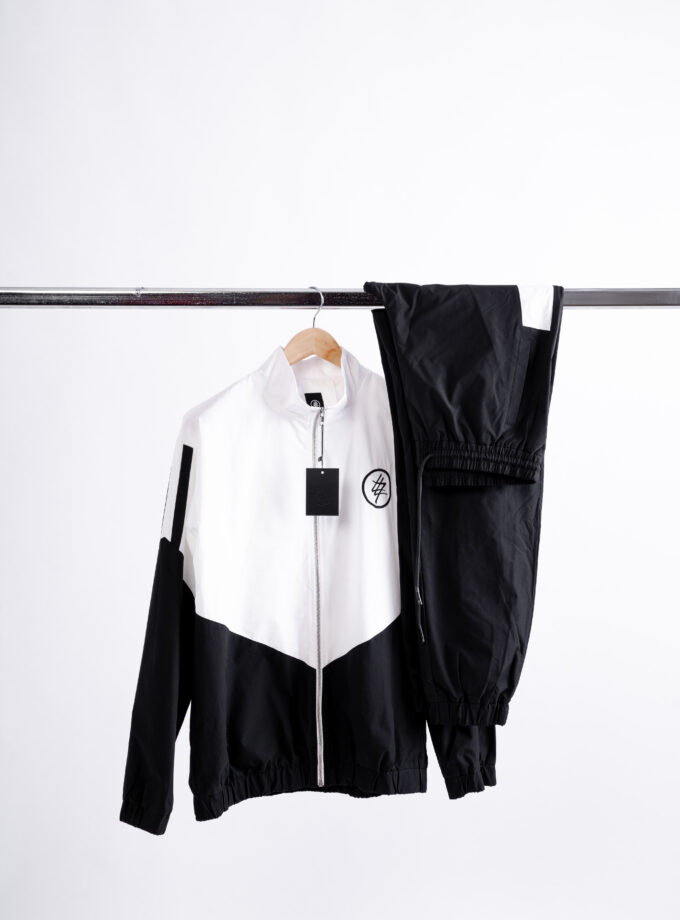 474 white and black tracksuit windbreaker
