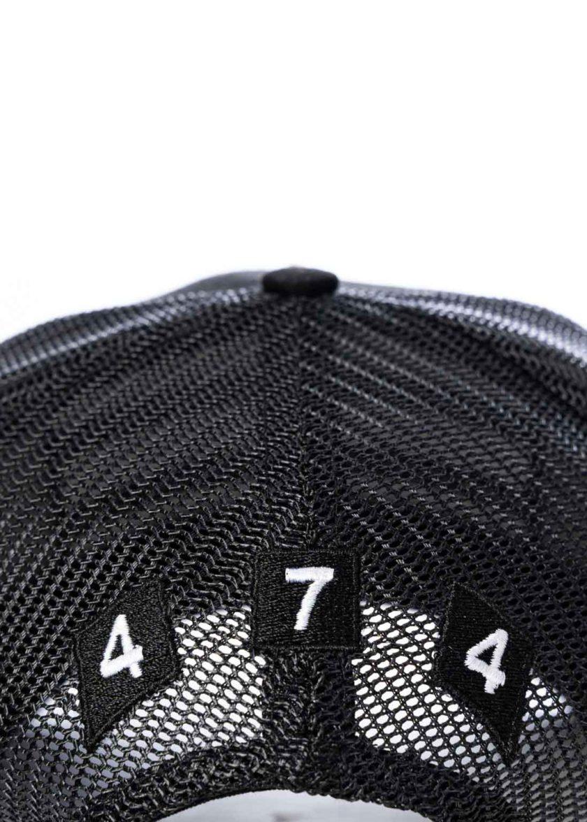 All Black 474 3 Bars Trucker Hat 4