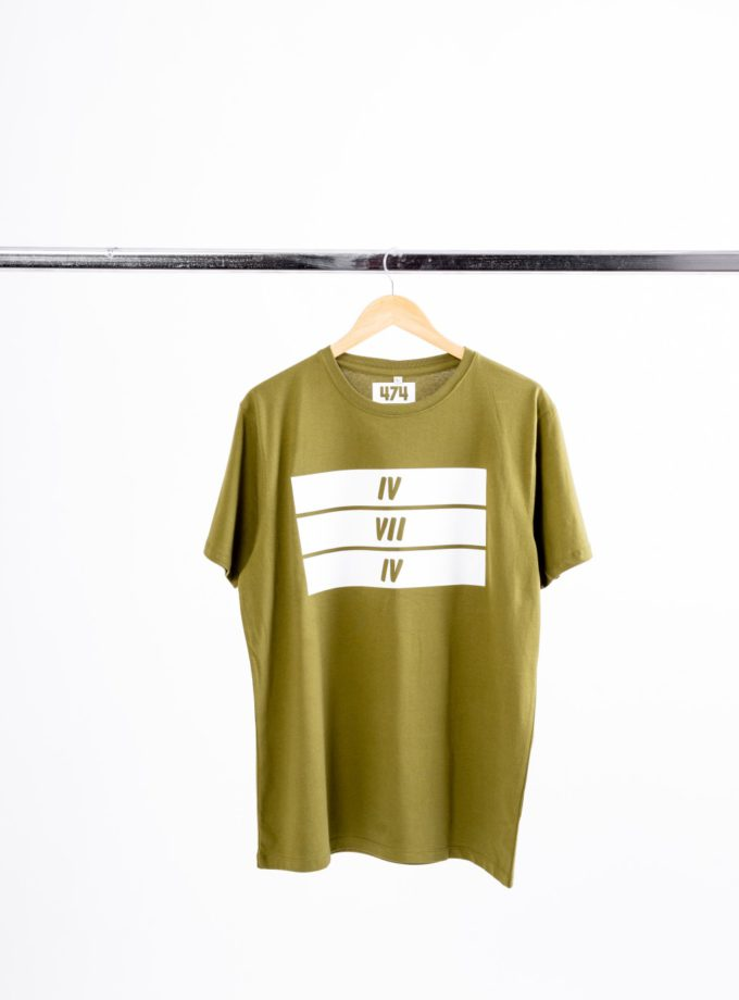 3 Bars Army Green T-Shirt