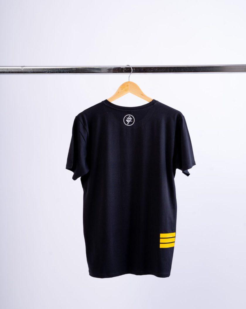 3 Bars Multi Color Black T-Shirt