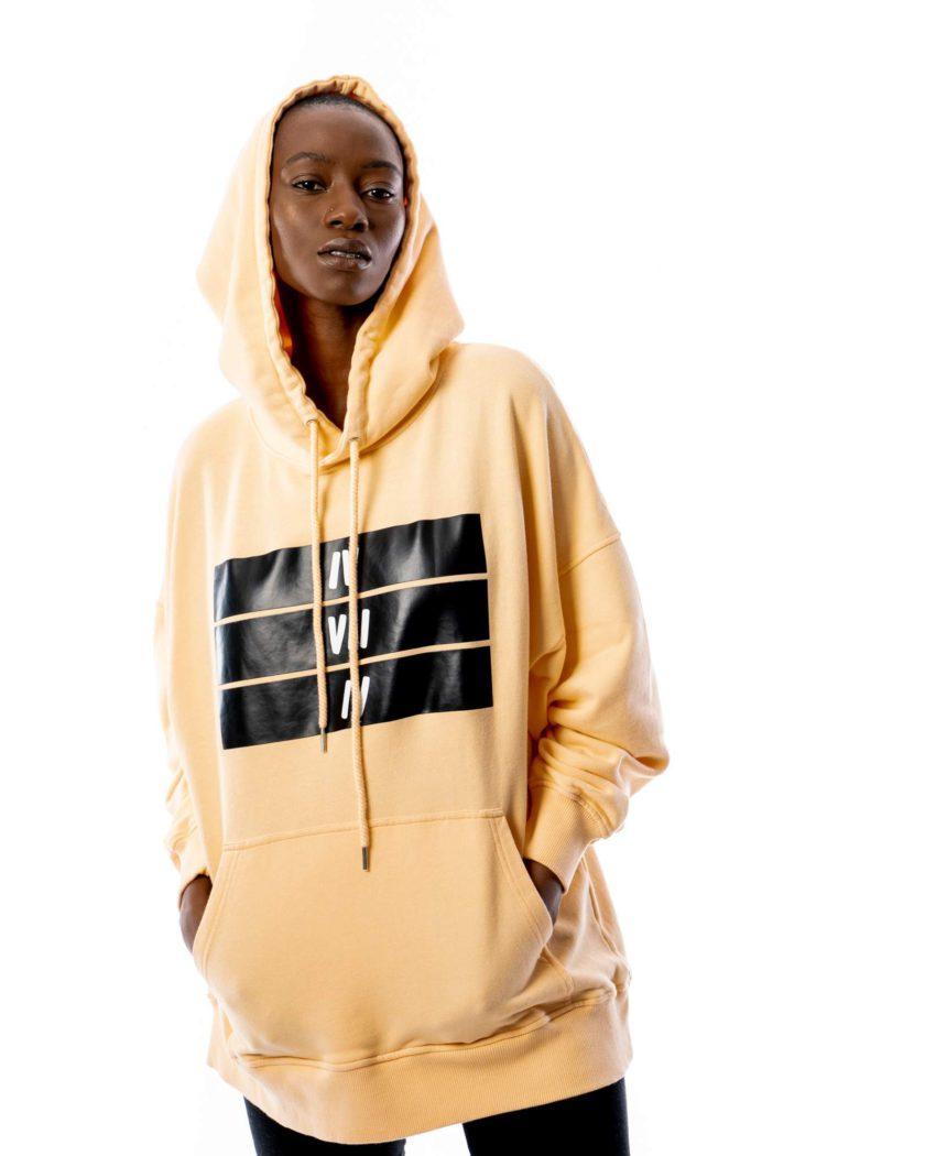 474co women peach fuzz hoodie